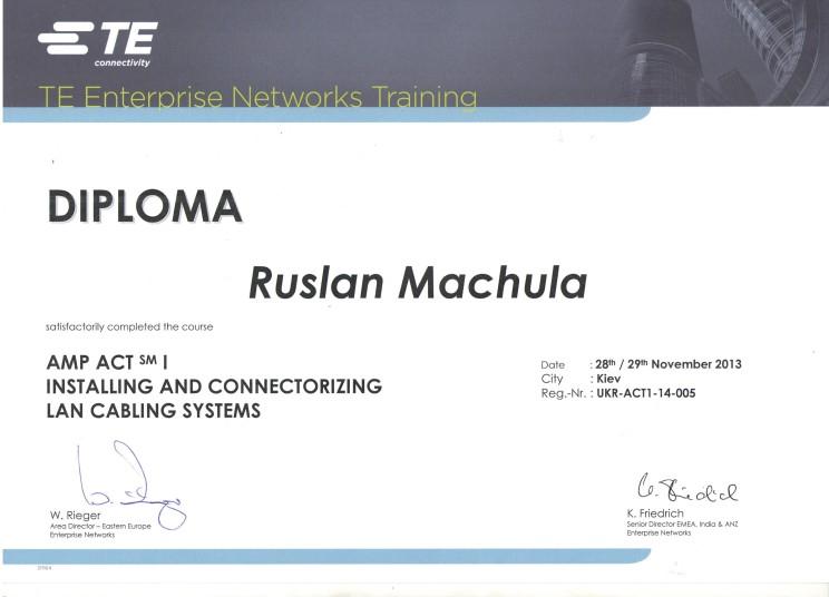 Сертифікат АMP Мачула Р.В.